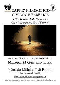 CAFFE' FILOSOFICO. L'ARCHETIPO DELLO STRANIERO @ Circolo Milleluci | Rimini | Emilia-Romagna | Italia