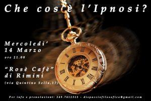 CHE COS'E' L'IPNOSI? INCONTRO TEORICO-ESPERIENZIALE @ Rosè Cafè | Rimini | Emilia-Romagna | Italia