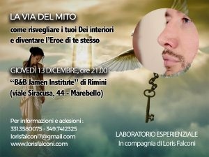 LA VIA DEL MITO. INIZIO LABORATORIO @ B&B Jamen Institute | Rimini | Emilia-Romagna | Italia