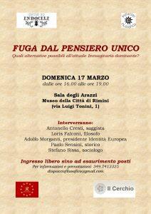 FUGA DAL PENSIERO UNICO @ Museo della Città | Rimini | Emilia-Romagna | Italia