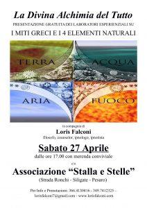 LA DIVINA ALCHIMIA DEL TUTTO. PRESENTAZIONE GRATUITA @ Associazione Stalla e Stelle   Marche   Italia