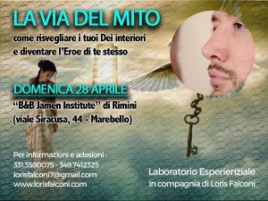 LA VIA DEL MITO.LABORATORIO ESPERIENZIALE @ B&B Jamen Institute   Rimini   Emilia-Romagna   Italia
