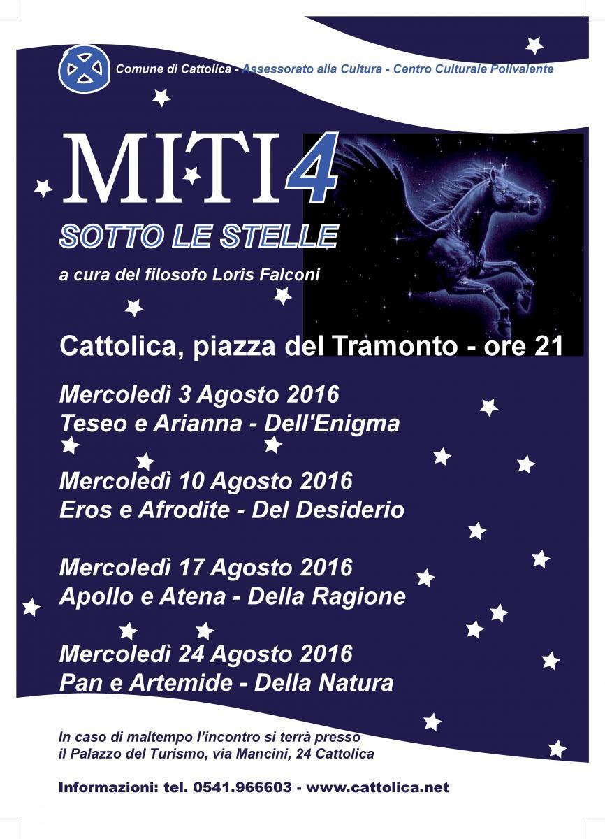 LOCANDINA MITI SOTTO LE STELLE 2016